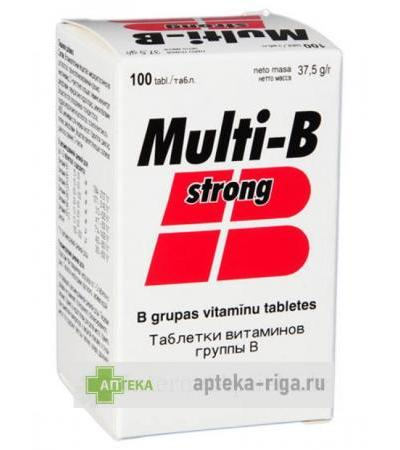 Multi B Strong, 100 tabletes