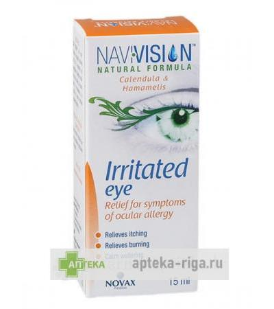 Navivision Irritated Eye pilieni iekaisušām acīm, 15 ml